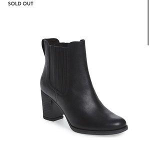 Black Heeled Leather Booties